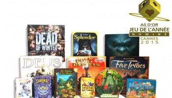 LEs jeux nominés pour l'as d'or - jeu de l'année