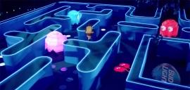 Pac Man géant Budwieser - Publicité SuperBowl